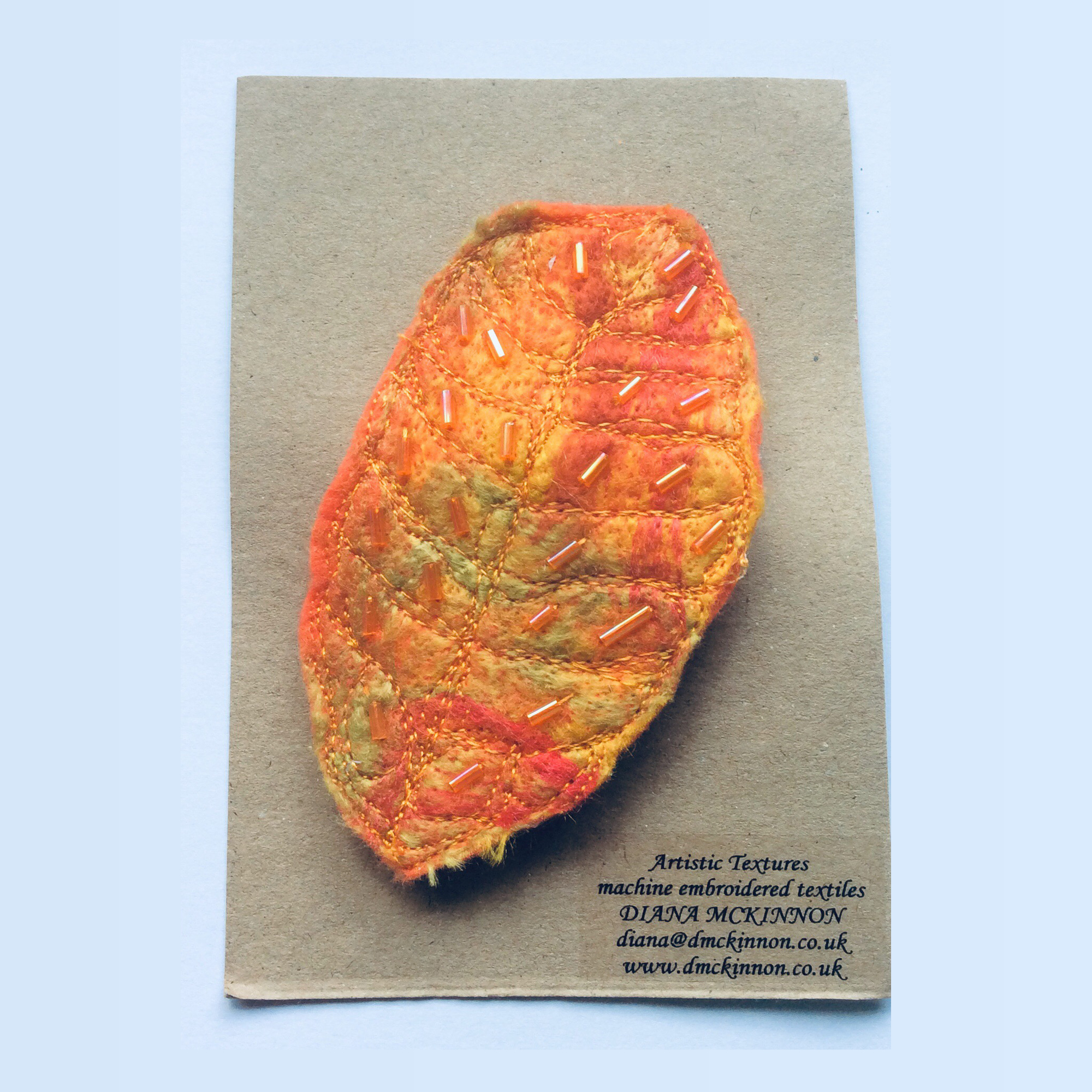 Orange Brooch