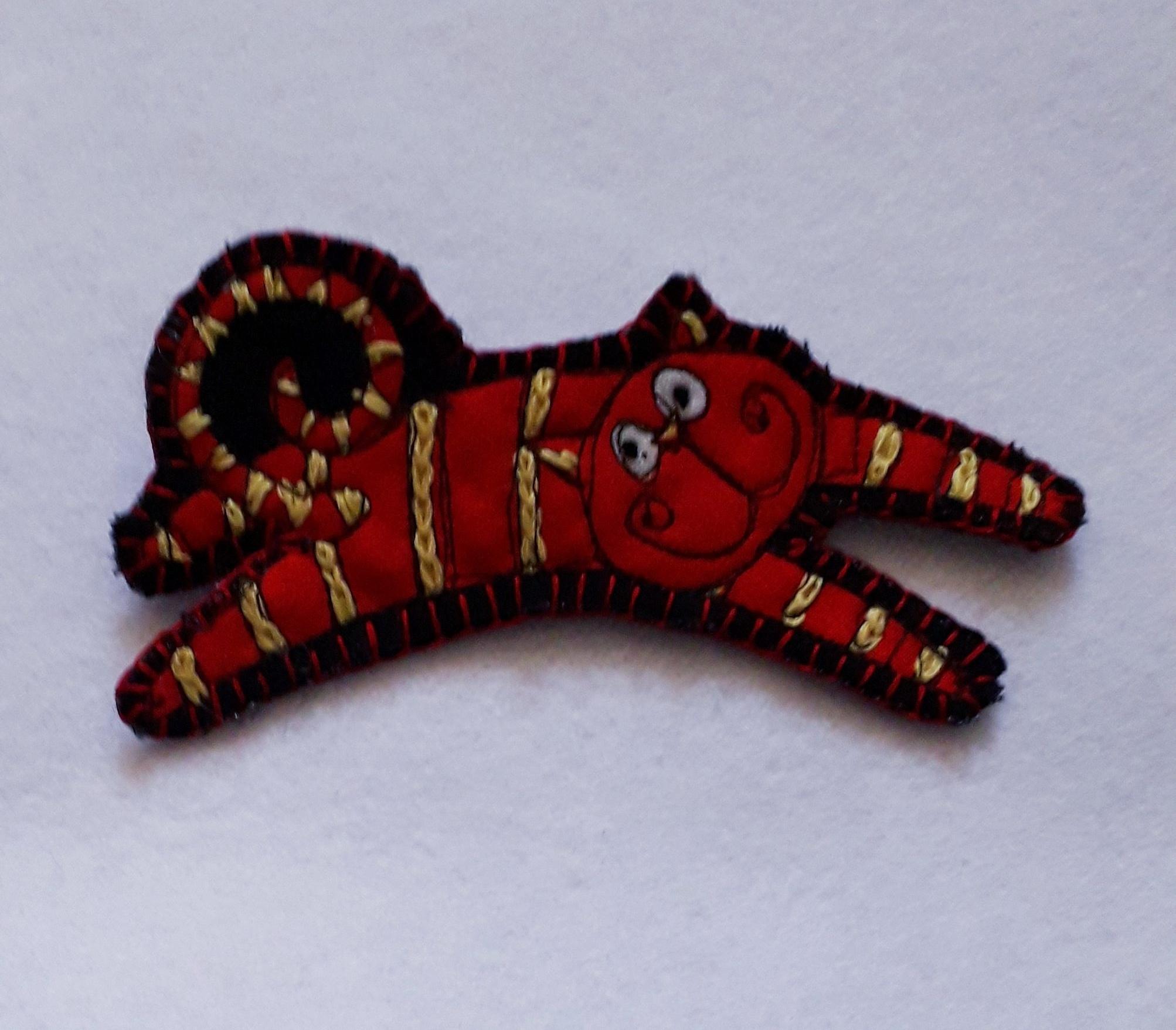 Red Cat Brooch 2